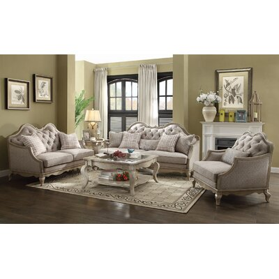 Adalgar 3 Piece Living Room Set
