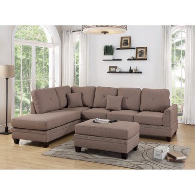 Lieber 3 Piece Living Room Set Upholstery: Coffee