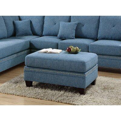 Lieber Ottoman Upholstery: Blue