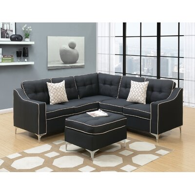 Cosgrove Modular Sectional Color: Black