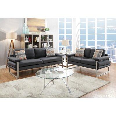 Altimari 2 Piece Living Room Set Upholstery: Ash Black
