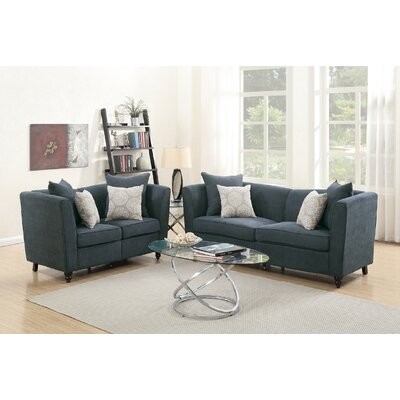Moorehead 2 Piece Living Room Set Upholstery: Slate