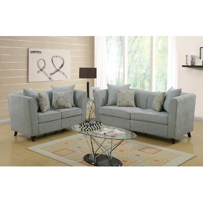 Moorehead 2 Piece Living Room Set Upholstery: Taupe