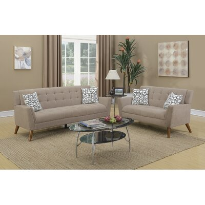 Vitale 2 Piece Living Room Set Upholstery: Sand