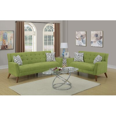 Vitale 2 Piece Living Room Set Upholstery: Willow
