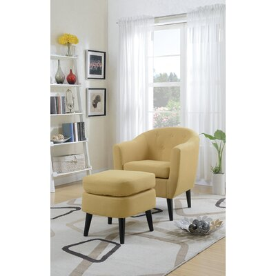 Fosbury Barrel Chair and Ottoman Upholstery: Citrus