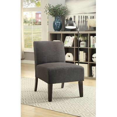 Lahti Side Chair Upholstery: Ash Black