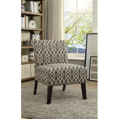 Lahti Side Chair Upholstery: Brown/White