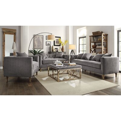 Aili 3 Piece Living Room Set