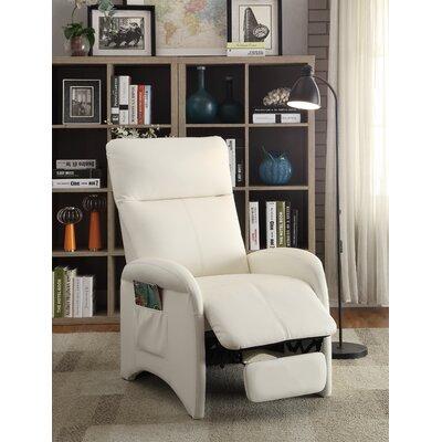 Tamas Recliner Upholstery: White
