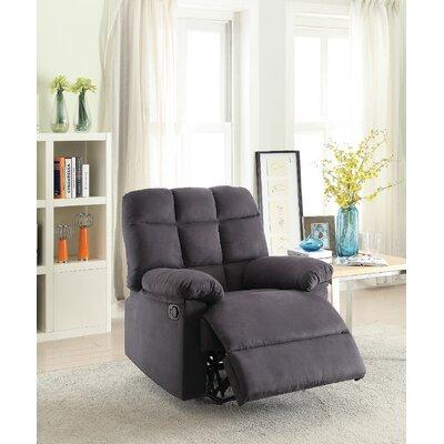 Jaclynn Recliner Upholstery: Ebony