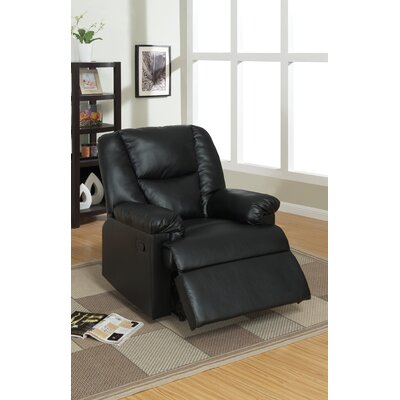 Michel Recliner Upholstery: Black