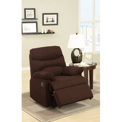 Michel Recliner Upholstery: Chocolate