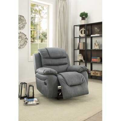 Timmerman Manual Glider Recliner Upholstery: Gray