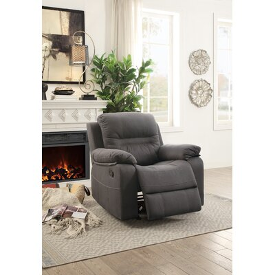 Niels Manual Glider Recliner Upholstery: Blue