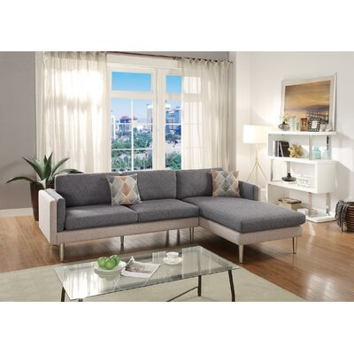 Calanthe 2 Piece Living Room Set Upholstery: Black/Sand