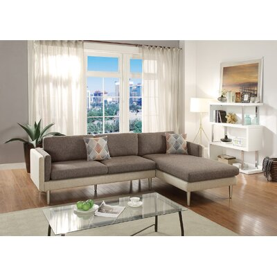 Calanthe 2 Piece Living Room Set Upholstery: Coffee/Platinum