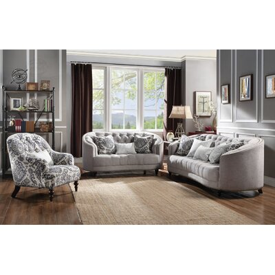 Natanael 3 Piece Living Room Set