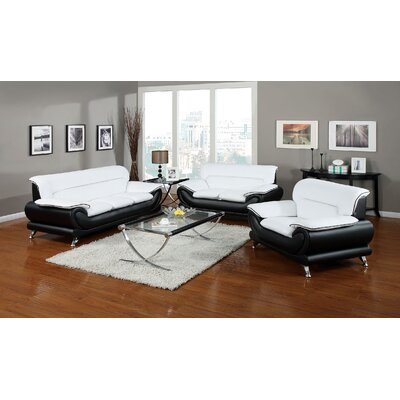 Quays 3 Piece Living Room Set