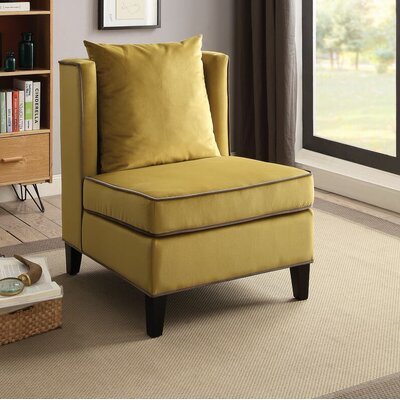 Ricci Slipper Chair Upholstery: Yellow