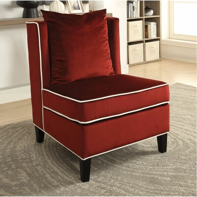 Ricci Slipper Chair Upholstery: Red