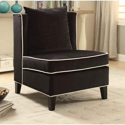 Ricci Slipper Chair Upholstery: Black