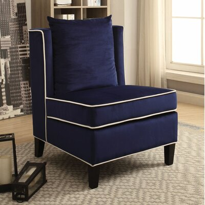 Ricci Slipper Chair Upholstery: Dark Blue
