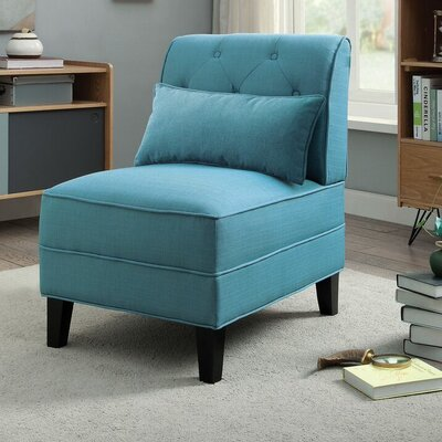 Riccio Slipper Chair Upholstery: Teal