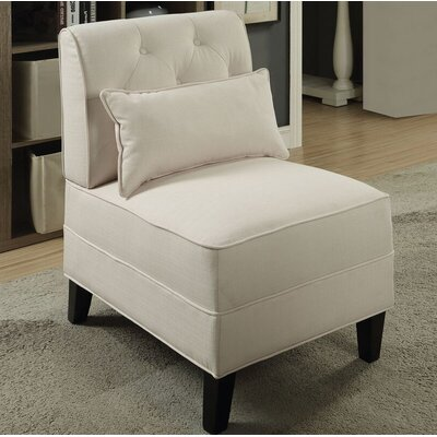 Riccio Slipper Chair Upholstery: Cream