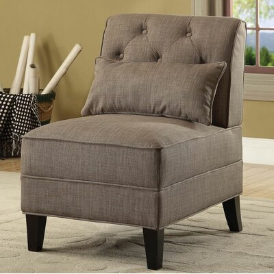 Riccio Slipper Chair Upholstery: Charcoal