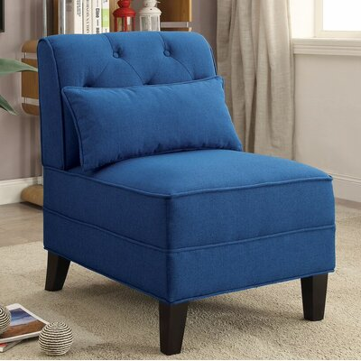 Riccio Slipper Chair Upholstery: Blue