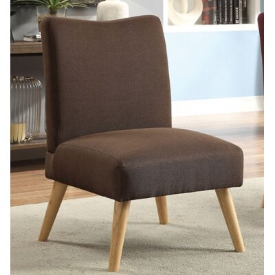 Queens Slipper Chair Upholstery: Brown