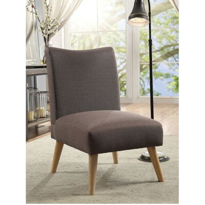 Queens Slipper Chair Upholstery: Light Brown