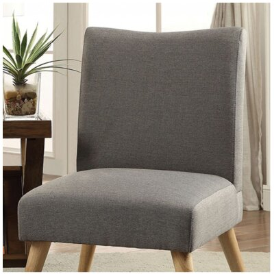 Queens Slipper Chair Upholstery: Gray