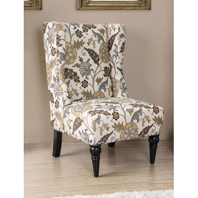 Bowie Wingback Chair Upholstery: Brown Floral