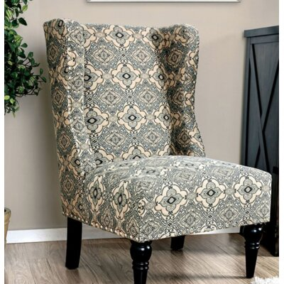 Bowie Wingback Chair Upholstery: Black Floral