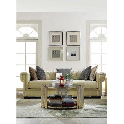 Crowborough Sofa Upholstery: Cream Polished Velvet