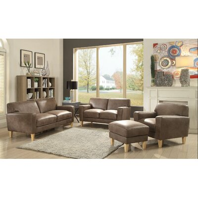 Escaler Loveseat Upholstery: Light Brown