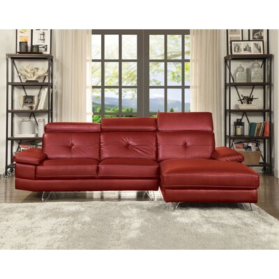 Quance Sectional Upholstery: Red