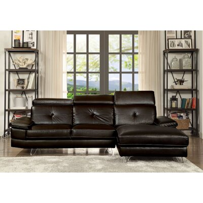 Quance Sectional Upholstery: Espresso