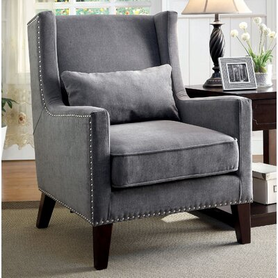 Frederika Wingback Chair Upholstery: Gray