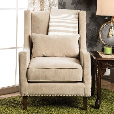 Frederika Wingback Chair Upholstery: Ivory