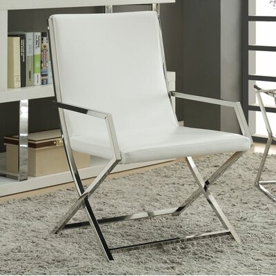 Rayborn Contemporary Metal Frame Armchair
