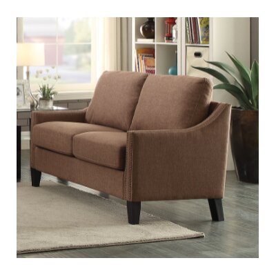 Bracken Loveseat Upholstery: Brown