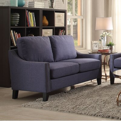 Bracken Loveseat Upholstery: Blue