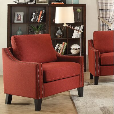 Bracken Armchair Upholstery: Red