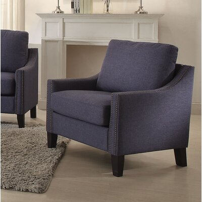 Bracken Armchair Upholstery: Blue