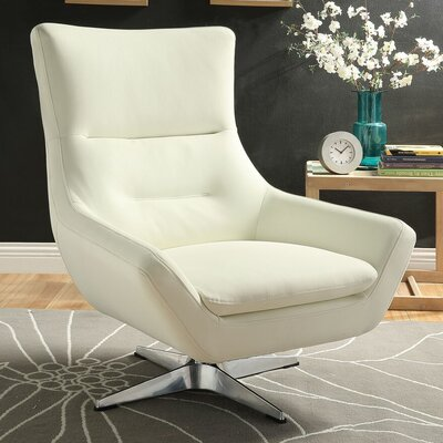 Winningham Swivel Wingback Chair Upholstery: White
