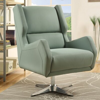 Winningham Swivel Wingback Chair Upholstery: Gray Stone