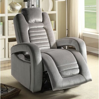 Timsbury Power Recliner Upholstery: Silver